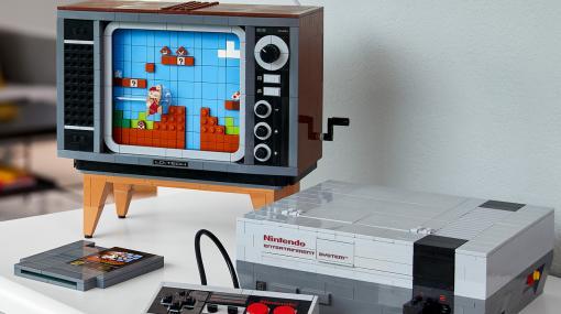 「LEGO NES」がレゴと任天堂の新たなコラボ製品として8月1日発売へ。1980年代スタイルのテレビセットと共にスーパーマリオの世界を再現