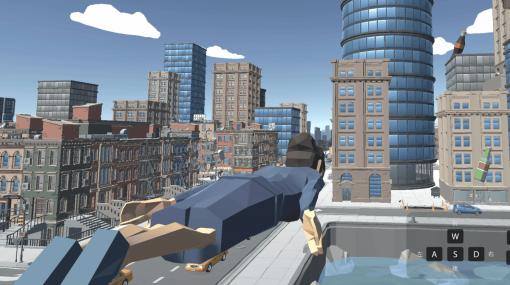 都知事がスーパーマンのごとく空を飛び回りながら集団に「密です!」を食らわせて社会的距離を確保させるゲーム「密です3D」 - GIGAZINE