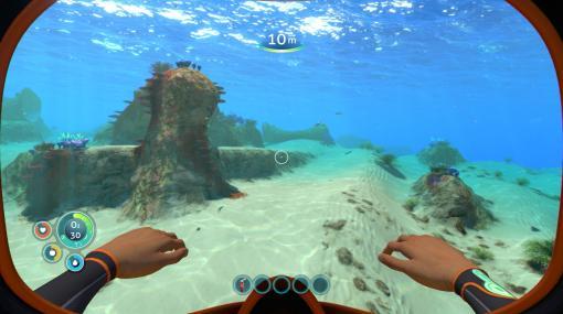 未知の海洋惑星で,めくるめく海中サバイバルライフ! 「Subnautica」プレイレポート