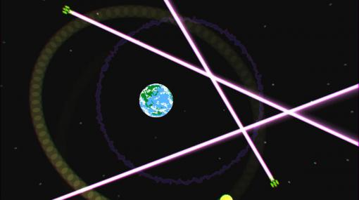 PCゲーム『EARTH DEFENSE SATELLITE』無料化。月を引力で振り回して、宇宙戦艦を破壊するゲーム