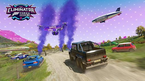 なんと「Forza Horizon 4」にバトルロイヤルモードが追加。72台で争う「The Eliminator」がシリーズ17アップデートで登場
