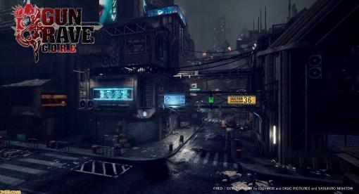 """PS4ガンアクション『GUNGRAVE G.O.R.E』のメインステージ""""スカムランド""""のグラフィックが公開。暗く不気味なこの島の正体とは!?"""
