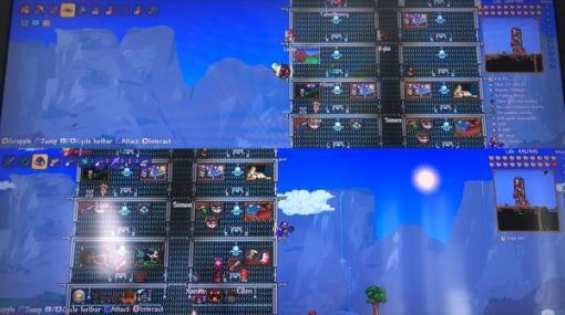 ニンテンドースイッチ版『テラリア』に画面分割2プレイヤーモード実装