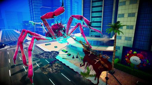 """PC版「カニノケンカ -Fight Crab-」に""""シカ""""が参戦決定。「ごく普通の鹿のゲーム」とのコラボアップデートが10月に実装"""