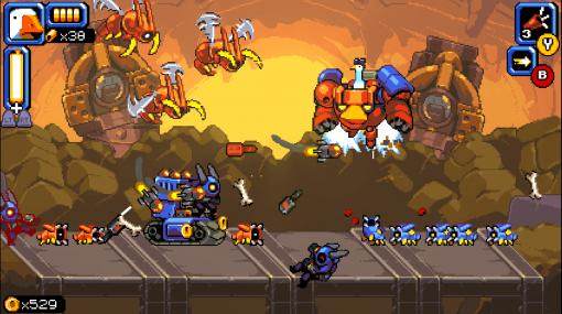 2D横スクロールアクション『マイティ・グース』が2021年内に発売決定。賞金稼ぎのガチョウが悪の帝王を成敗、PLAYISMが太鼓判を押すシューティングゲーム