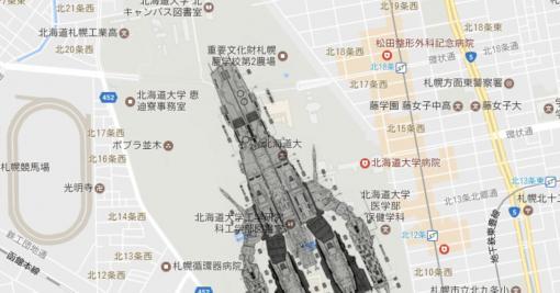 北海道大学札幌キャンパスに、マクロス艦(SDF-1)を置くとこうなる→敷地のとんでもないデカさが伝わってくる、メガロードでもいけそう - Togetter