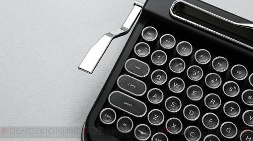 レトロなタイプライター風ワイヤレスキーボード発売