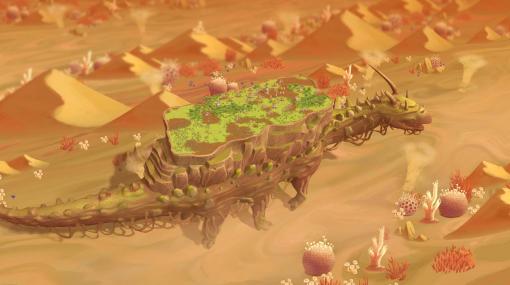 巨大生物の背中にある集落を運営するゲーム『The Wandering Village』開発中。有害な胞子が蔓延した世界で「オンブ」の背に乗り生活する人々を描く
