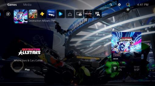 PlayStation 5のユーザー体験が初公開。新ホーム画面や、ゲームやシステムに素早くアクセスできる「コントロールセンター」などが披露