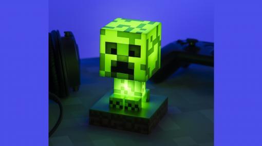 『マインクラフト』クリーパーのフィギュアライトや草ブロックデザインの目覚し時計など、インテリアアイテムが11月19日より発売