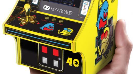 ミニチュア筐体風ゲーム機「レトロアーケード<パックマン>」のパックマン40周年記念モデル(ゴールドVer.)が11月26日より数量限定販売へ