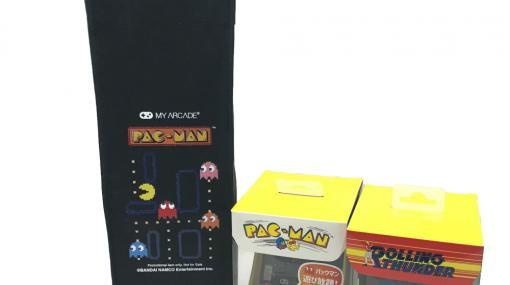 「パックマン」と「ローリングサンダー」の小型ゲーム機をセットにした商品が数量限定で販売!「パックマン」デザインのトートバッグも付属!