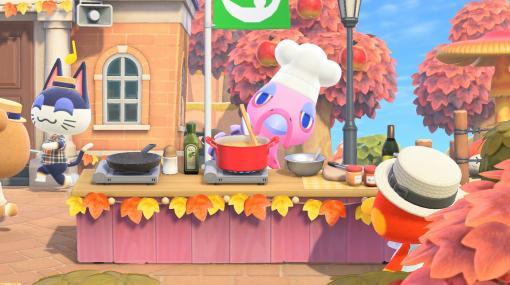 """『あつ森』サンクスギビングのお祭りが開催。プロの料理人""""フランクリン""""が登場!【あつまれ どうぶつの森】"""