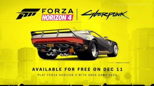 『Forza Horizon 4』に『サイバーパンク2077』の車「QUADRA TURBO-R V-TECH」が登場!12月11日に無料配信【TGA 2020】