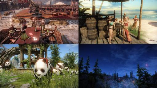 オンラインRPG『ロストアーク』大海原には、個性的な島が浮かんでいる。パンダの島やビーチ、流れ星が降り続ける孤島など、観光スポットを紹介
